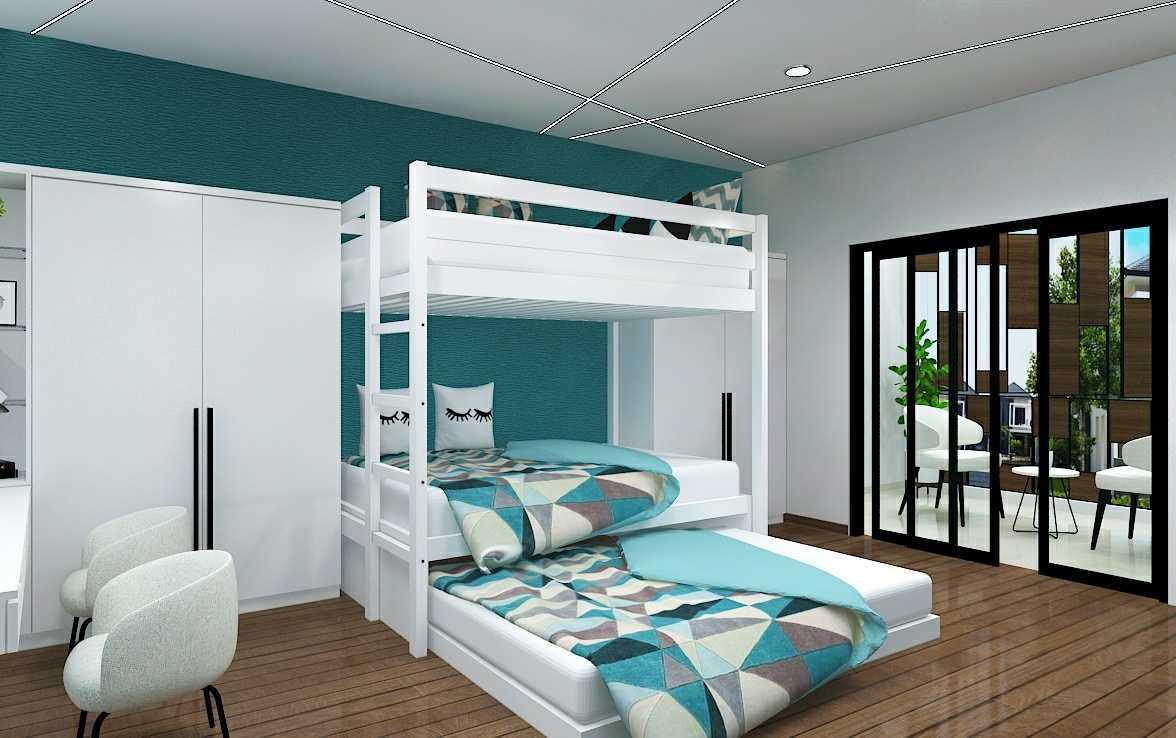 Foto inspirasi ide desain kamar tidur anak skandinavia Fiano-new-paradiso-modern-house oleh FIANO di Arsitag