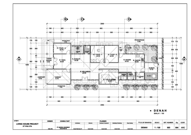 Marzal Rakhmadi Architects Bintuhan House Bengkulu Bengkulu Denah  10927