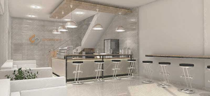 Studio Besar Mini Cafe Sportofit Jakarta, Daerah Khusus Ibukota Jakarta, Indonesia Jakarta Desain-Interior-Cafe-Sportofit-View-1 Modern 43915