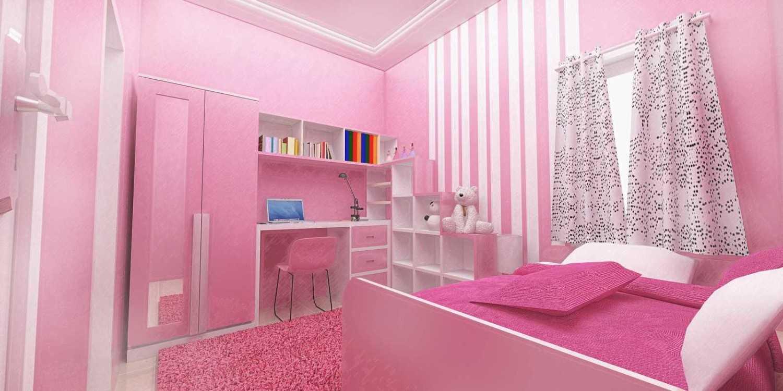 Studio Besar Interior Beji, Depok Beji, Kota Depok, Jawa Barat, Indonesia Depok, Jawa Barat Desain-Interior-Kamar-Anak-Pink-Rumah-Beji  43956