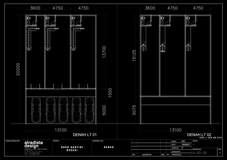 Pt Alradista Desain Indonesia Ruko Kartini Bekasi Bekasi Floor-Plan Minimalis 28873