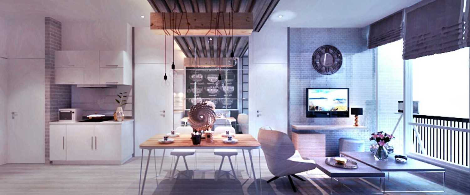 Rinto Katili Industrial Style Apartment Jakarta Jakarta Small Industrial Apartment_View To Pantry Industrial 24816