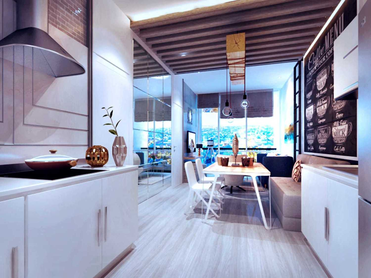 Rinto Katili Industrial Style Apartment Jakarta Jakarta Apartment_Industrial Style_View From Pantry To Living Room Industrial 29776