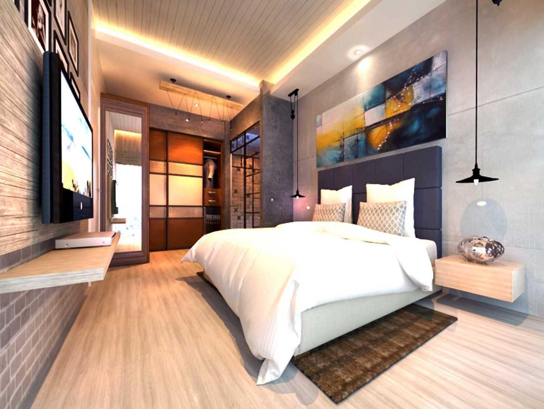 Foto inspirasi ide desain kamar tidur industrial Master-bedroom oleh Rinto Katili di Arsitag