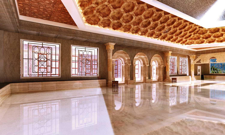 Foto inspirasi ide desain pintu masuk kontemporer Masjid of al-azhar_view to main entrance oleh Rinto Katili di Arsitag