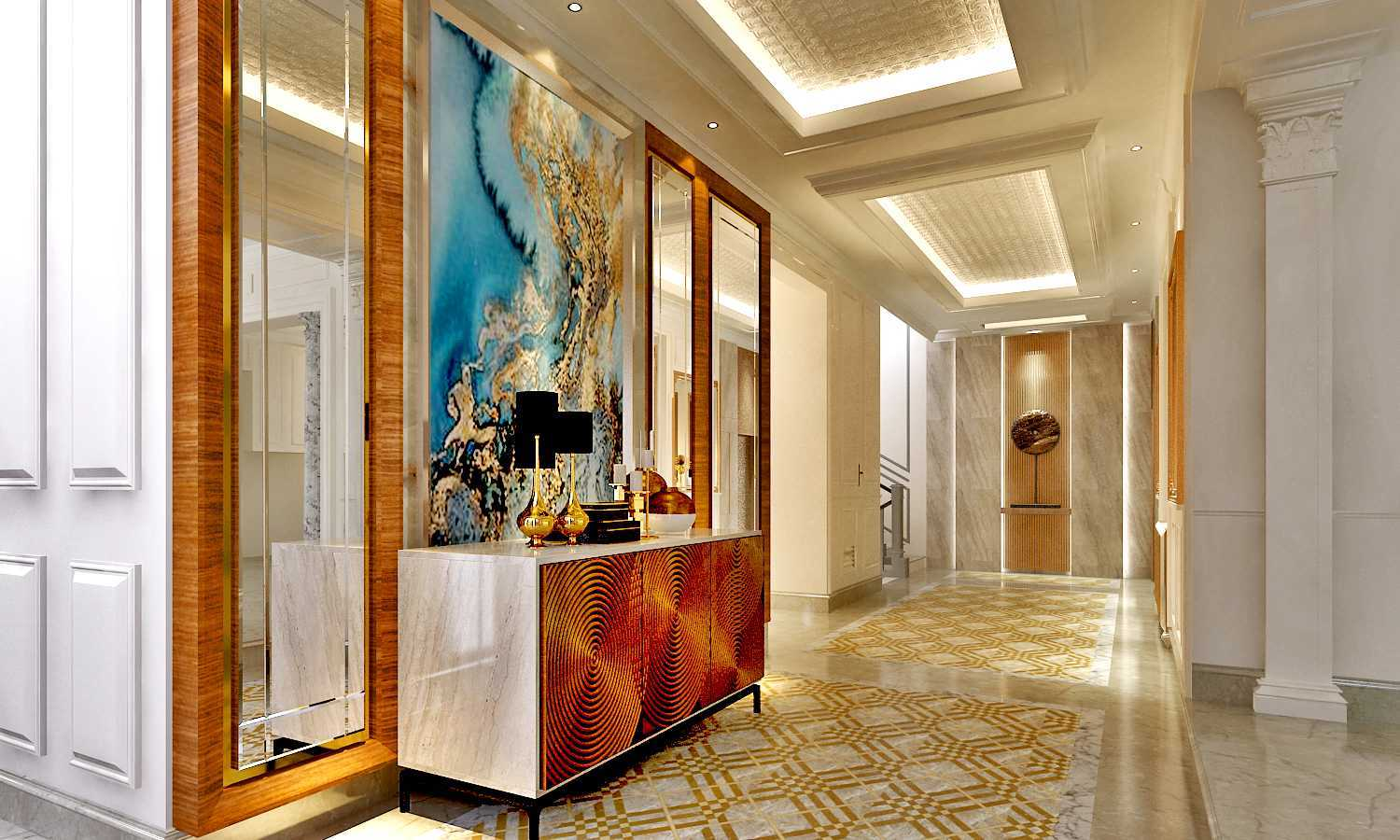 Rinto Katili, S.s.n, M.m Classical Residence Pantai Indah Kapuk, Jakarta Pantai Indah Kapuk, Jakarta Wall Treatment Before Dining Area Kontemporer 32691