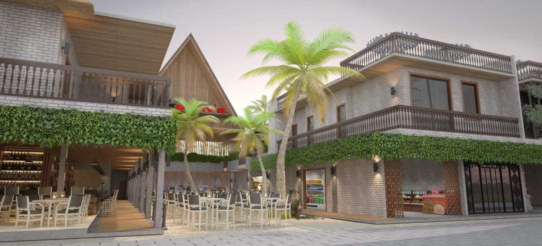 Foto inspirasi ide desain restoran tropis Resort-restaurantfront-view-lombok oleh Rinto Katili di Arsitag