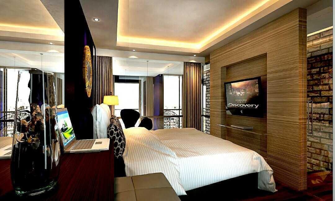 Foto inspirasi ide desain kamar tidur kontemporer Master bedroom for lofting design oleh Rinto Katili di Arsitag