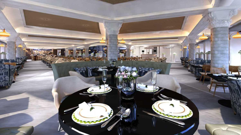 Foto inspirasi ide desain apartemen kontemporer All-day-dining classic-contemporary oleh Rinto Katili di Arsitag