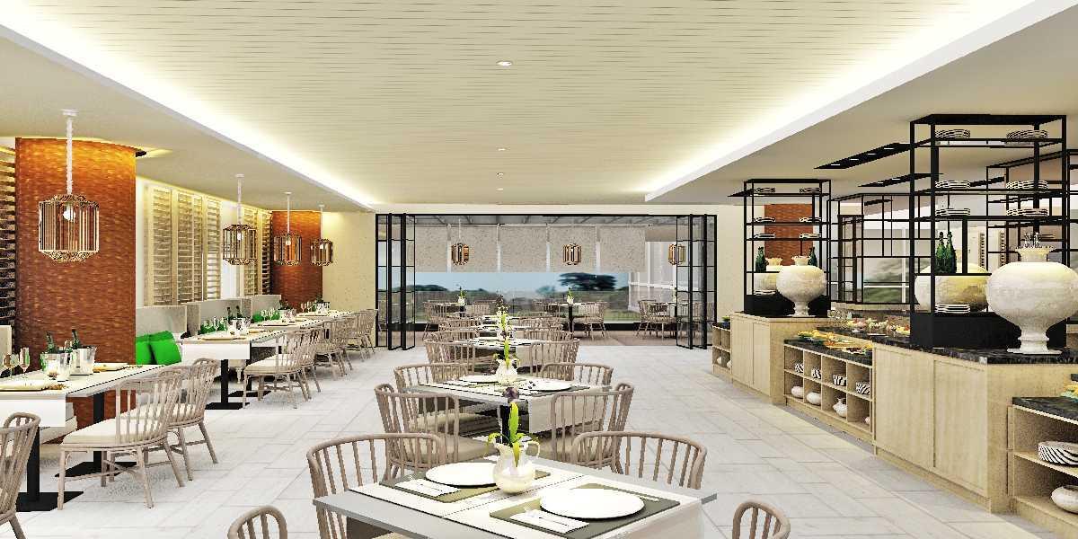 Foto inspirasi ide desain restoran kontemporer All-day-diningresort-hotel- oleh Rinto Katili di Arsitag