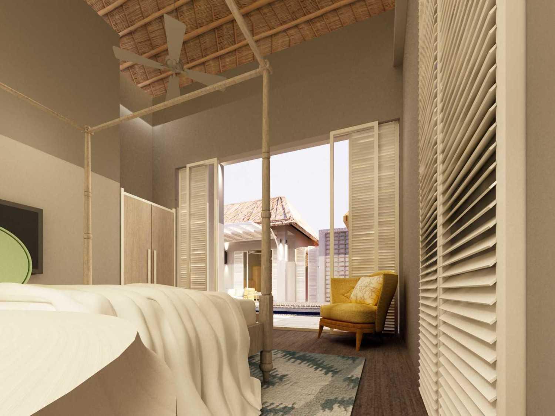 Foto inspirasi ide desain kamar tidur kontemporer Master-bedroom-to-infinite-pool oleh Rinto Katili di Arsitag