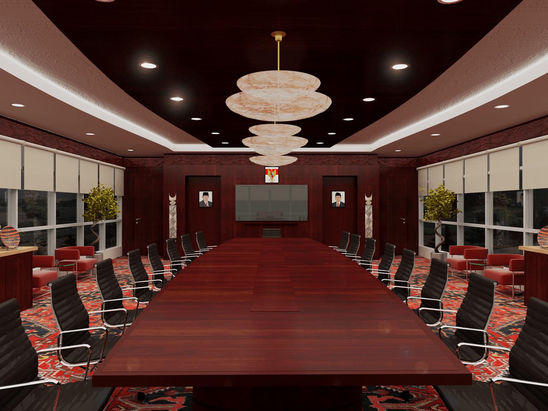 Foto inspirasi ide desain ruang meeting tradisional Ruang meeting pln cirata oleh Rinto Katili di Arsitag