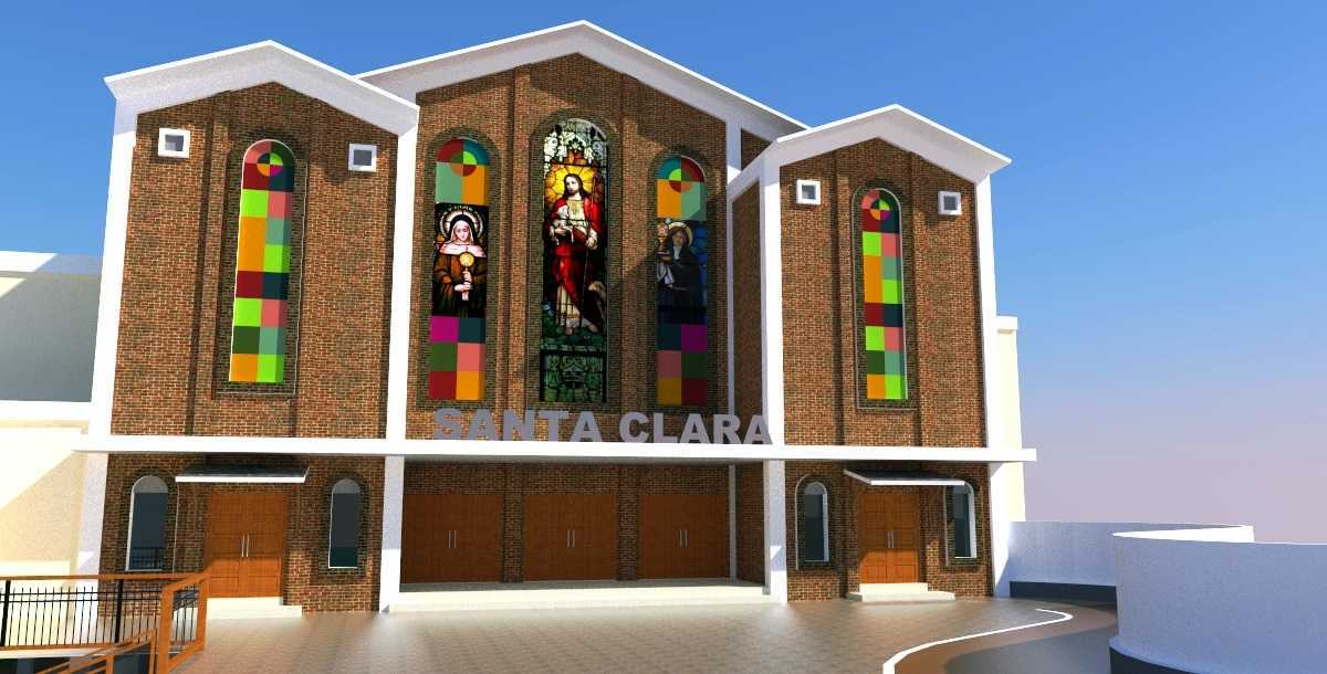 Eko Sulistiyono Desain Gereja Santa Clara Jalan Lingkar Utara, Perwira, Bekasi Utara, Kota Bks, Jawa Barat 17123, Indonesia Bekasi Utara Facade-Gereja  12625