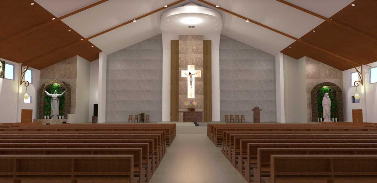 Eko Sulistiyono Desain Gereja Santa Clara Jalan Lingkar Utara, Perwira, Bekasi Utara, Kota Bks, Jawa Barat 17123, Indonesia Bekasi Utara Praying Area  12630