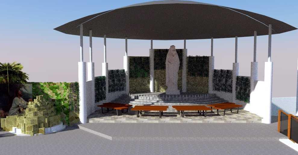Eko Sulistiyono Desain Gereja Santa Clara Jalan Lingkar Utara, Perwira, Bekasi Utara, Kota Bks, Jawa Barat 17123, Indonesia Bekasi Utara St-Clara-Baru-Final  12632
