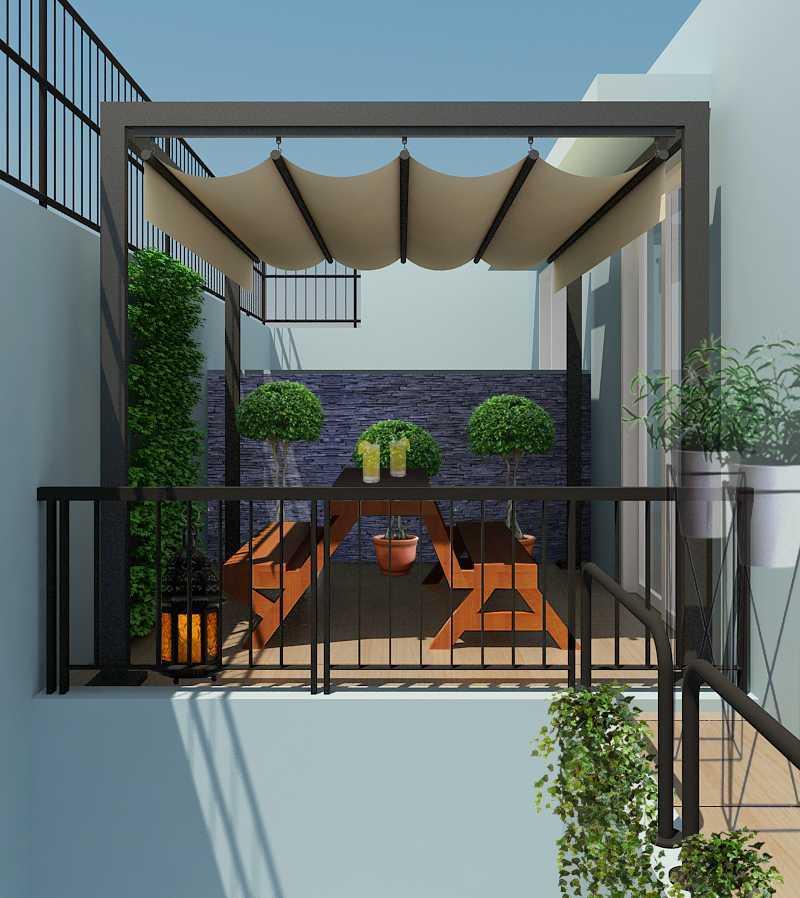 Meili Darmasetiawan Lotus Residence  Grand Galaxy City Bekasi Grand Galaxy City Bekasi 3D-Teras-Atas Modern 14088
