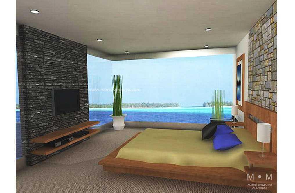 Foto inspirasi ide desain kamar tidur tropis Bedroom oleh Mario or Marjo (MoM) Architect di Arsitag