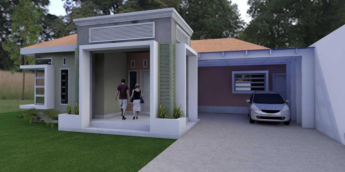 Foto inspirasi ide desain garasi tropis Garasi mobil oleh Oktavian Vicky Rantung di Arsitag
