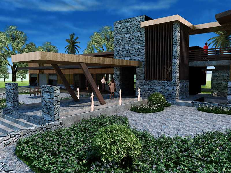 Oktavian Vicky Rantung Rumah Tinggal Modern Rustic Minahasa Utara Minahasa Utara Best Modern 11550