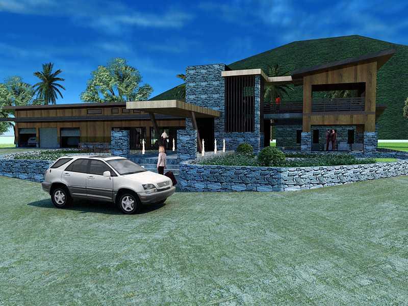 Oktavian Vicky Rantung Rumah Tinggal Modern Rustic Minahasa Utara Minahasa Utara Erwer Modern 11555