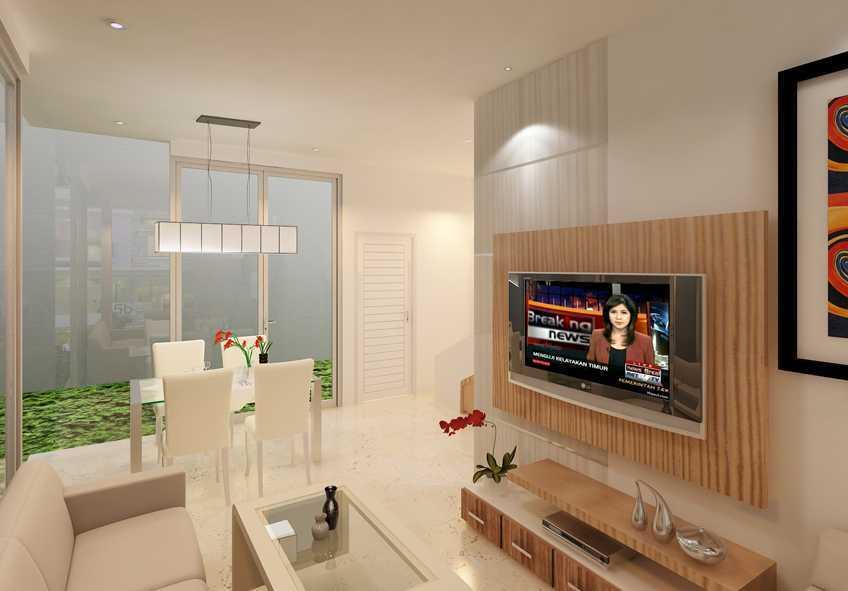 Foto inspirasi ide desain ruang keluarga skandinavia Livingroom oleh Yohanes Khouw di Arsitag