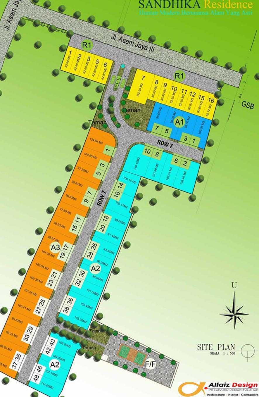 Faiz Sandhika Residence Bekasi, Bekasi City, West Java, Indonesia Bekasi Jawa Barat Siteplan-Brosur-3-Std Tropis,modern 12127