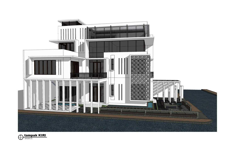 Freddy A Simamora Rumah Minimalis, Modern & Glamour Medan, Sumatera Utara Medan, Sumatera Utara Tampak-3D-Kiri Minimalis,modern 16882