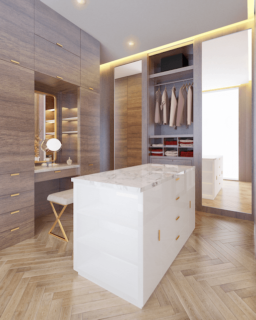 Mimo Home Interior Design & Build Private Residence At Darmawangsa Jakarta, Indonesia Jakarta, Indonesia Master Walk In Closet  29194