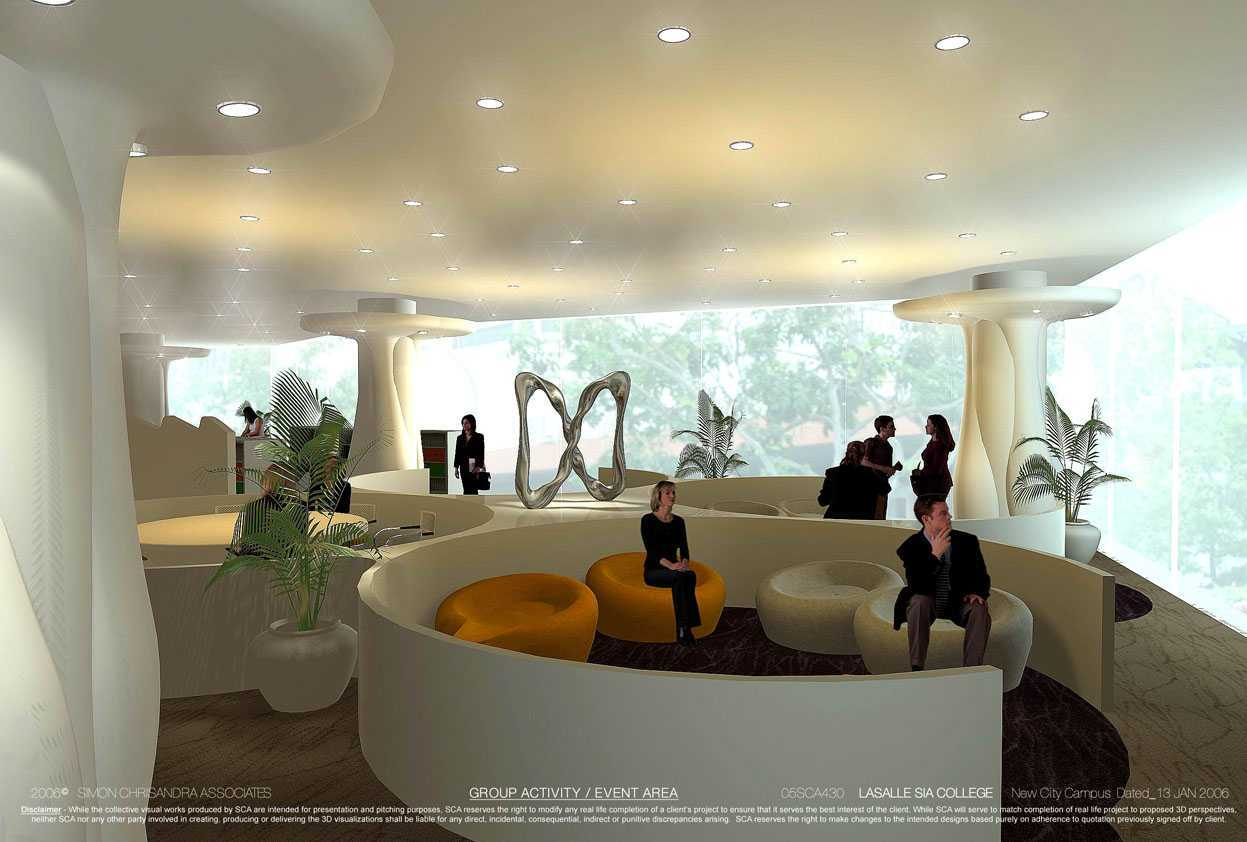 Rully Tanuwidjaja The New City Campus Lasalle-Sia Singapura Singapura Library Lounge Kontemporer 48068