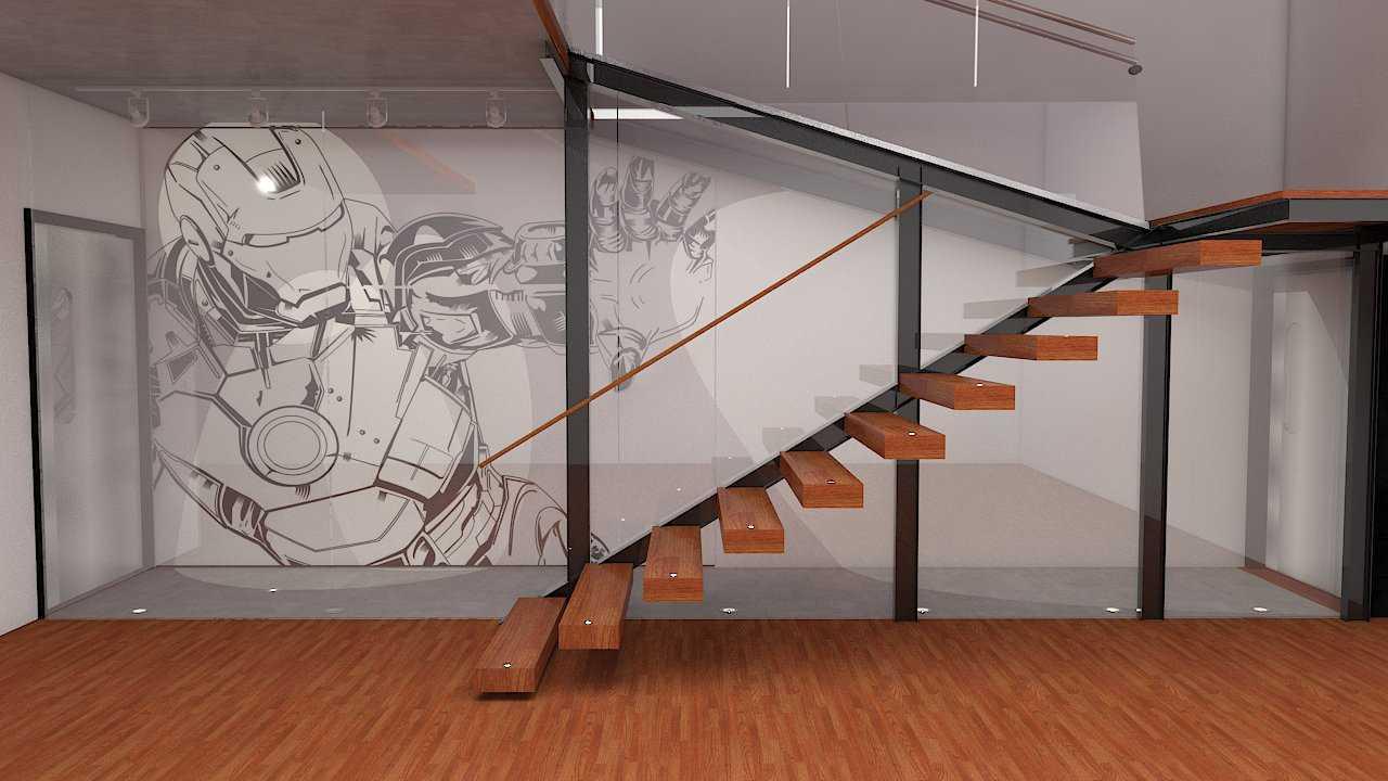 Foto inspirasi ide desain tangga skandinavia 1st floor stairs oleh Donnie Marcellino di Arsitag