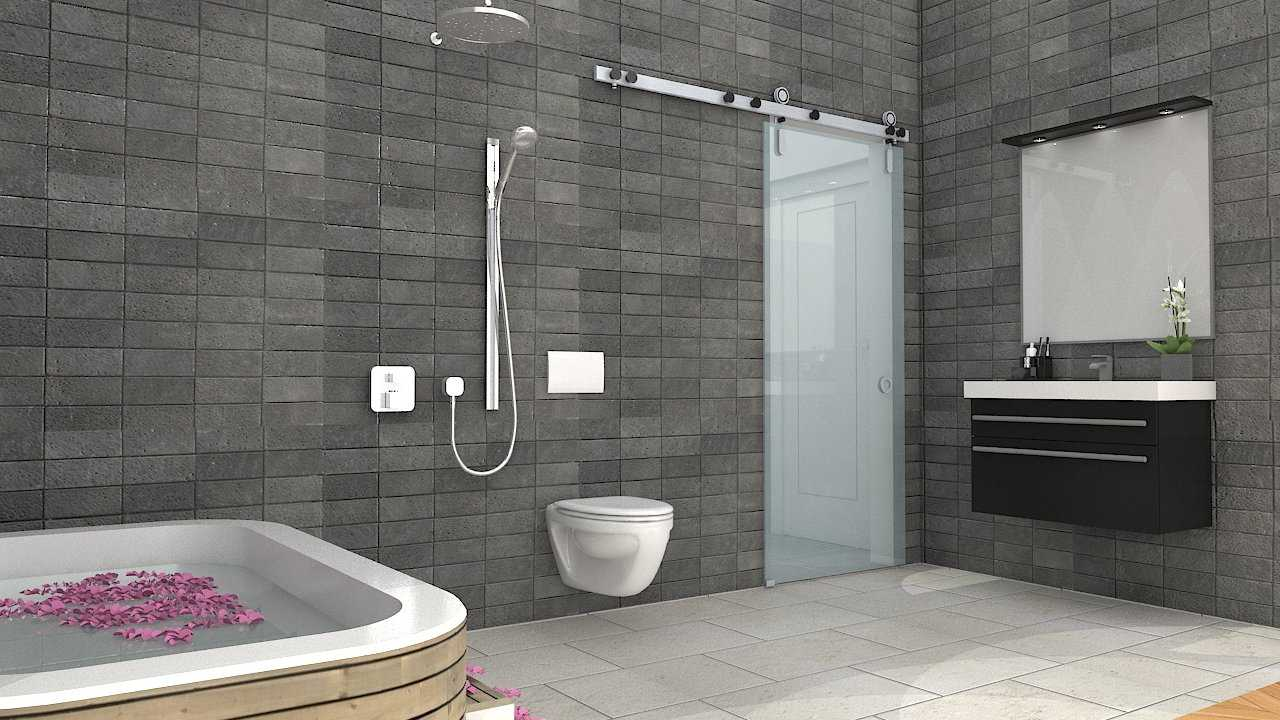 Foto inspirasi ide desain kamar mandi skandinavia Bathroom wardrobe oleh Donnie Marcellino di Arsitag