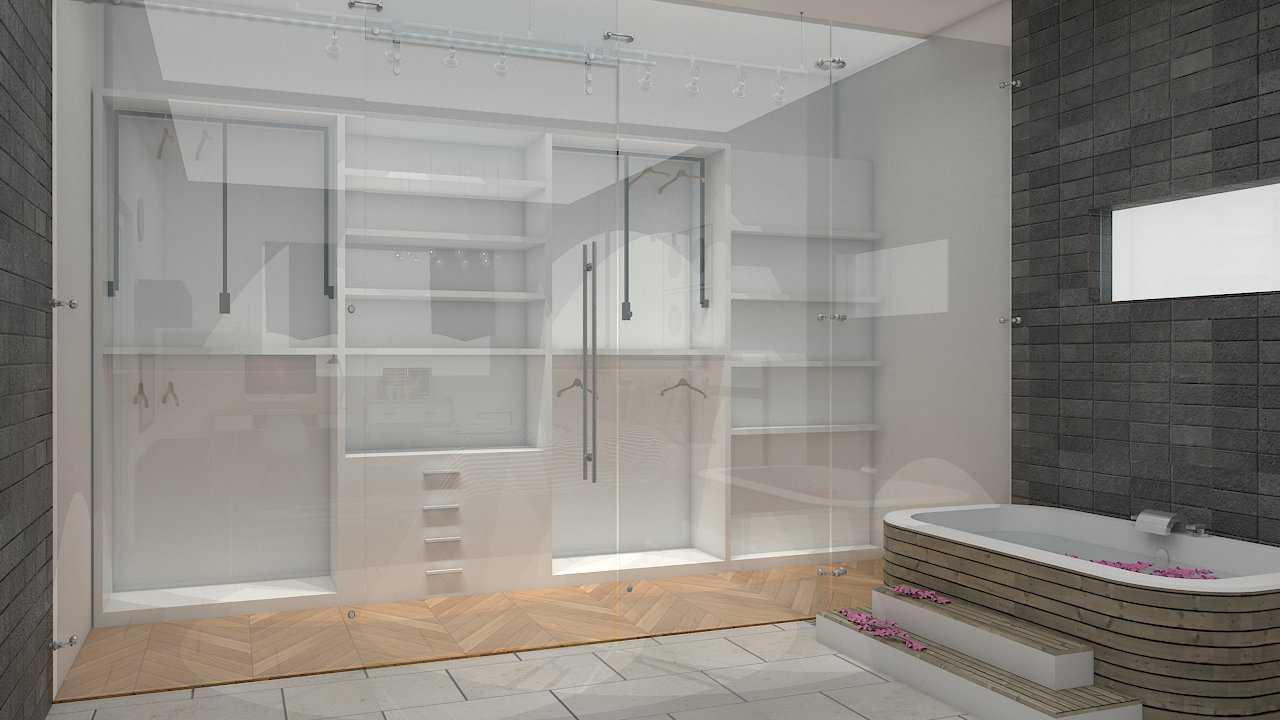 Donnie Marcellino Mr.c's House At Tomang Jakarta Jakarta Bathroom Wardrobe Industrial,skandinavia 20575