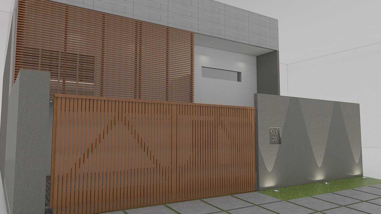 Foto inspirasi ide desain exterior skandinavia Front view oleh Donnie Marcellino di Arsitag