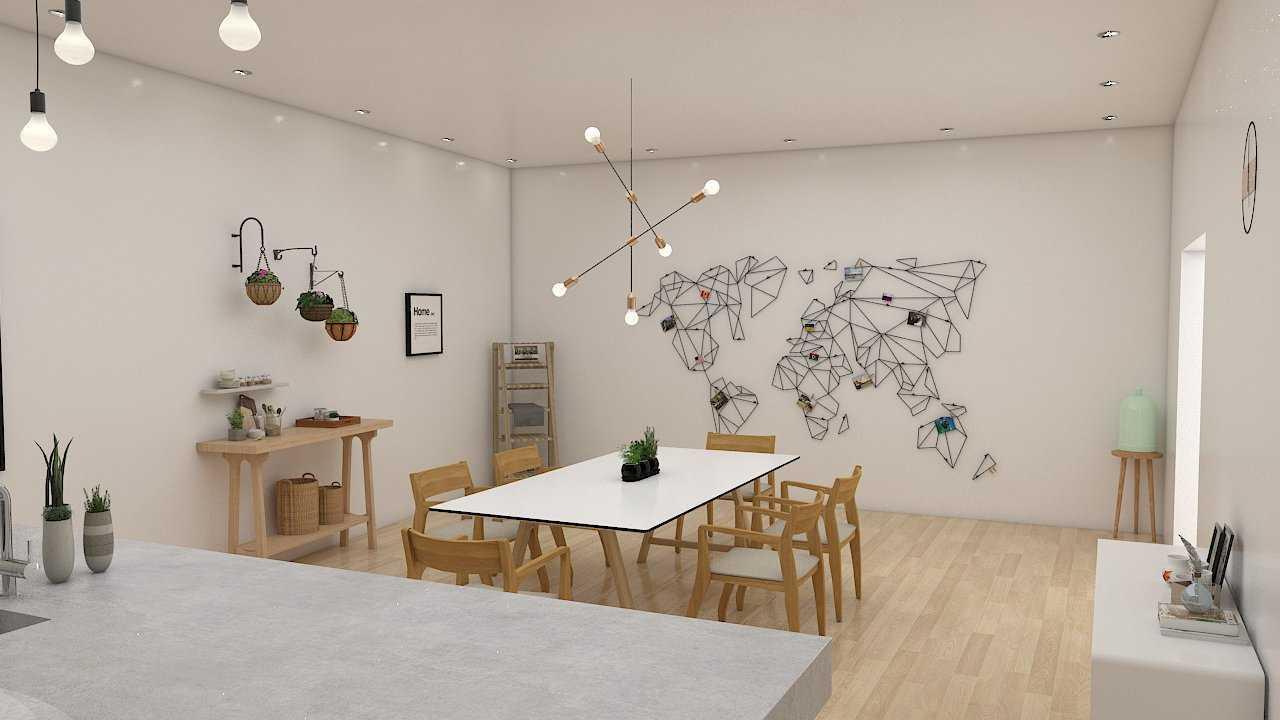 Foto inspirasi ide desain ruang makan skandinavia Dining room oleh Donnie Marcellino di Arsitag