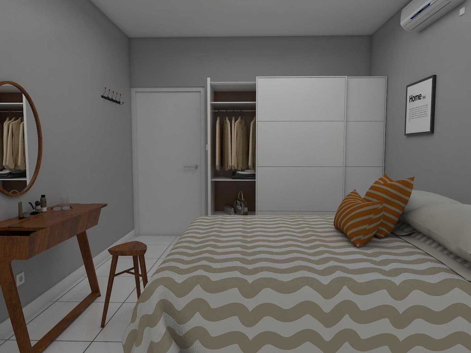 Donnie Marcellino Mr.f's House  Gg. Buntu 2, Jatimelati, Pondokmelati, Kota Bks, Jawa Barat 17415, Indonesia Guest Bedroom Design Kontemporer 30166