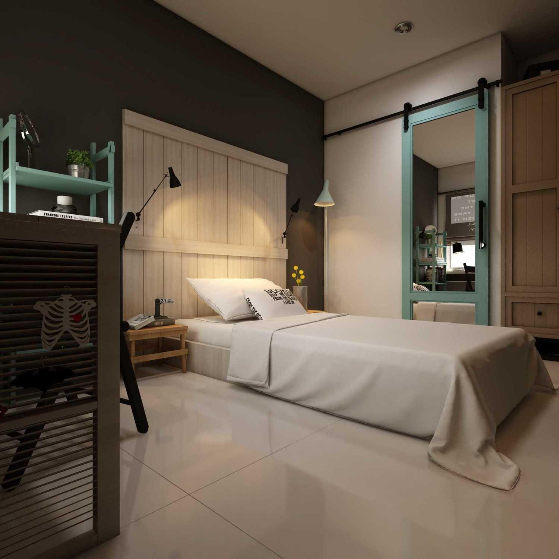 Foto inspirasi ide desain kamar tidur industrial Small-bedroom0000 oleh La.casa di Arsitag