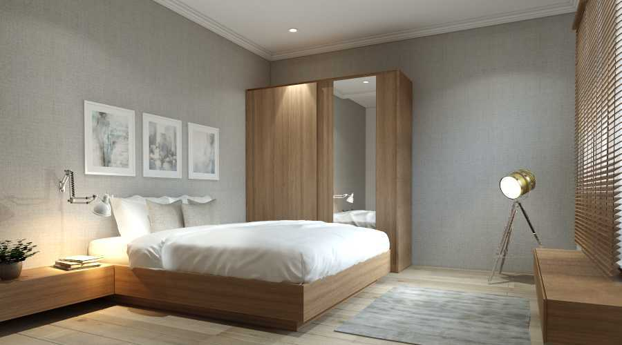 Virr Studio Master Bedroom At Rumah Jagakarsa Jagakarsa, South Jakarta City, Jakarta, Indonesia Jagakarsa, Jakarta Selatan Yoga-Bed-Room-Cam-2 Minimalis 29320