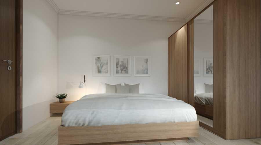 Virr Studio Master Bedroom At Rumah Jagakarsa Jagakarsa, South Jakarta City, Jakarta, Indonesia Jagakarsa, Jakarta Selatan Yoga-Bed-Room-Cam-4 Minimalis 29322
