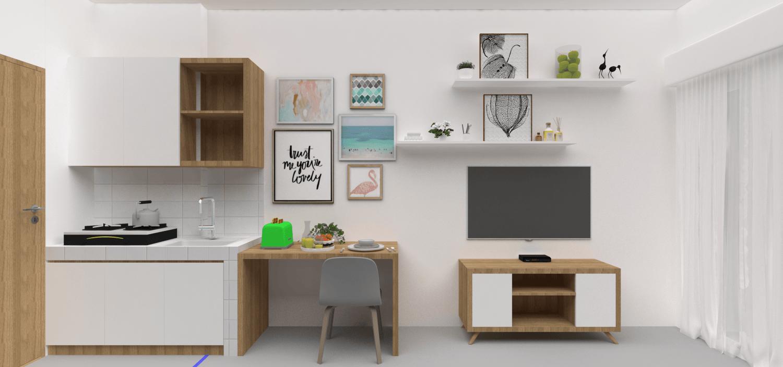 Foto inspirasi ide desain dapur skandinavia 03 oleh VIRR Studio di Arsitag