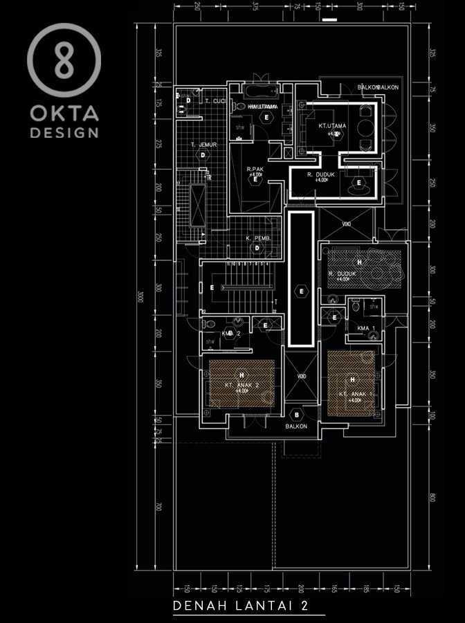 Okta Design Private House - Savron Residence Kebon Jeruk Kebon Jeruk Denah  18890