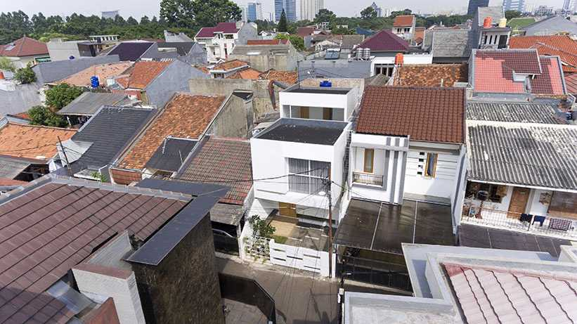 Foto inspirasi ide desain exterior Bird eye view oleh DELUTION di Arsitag