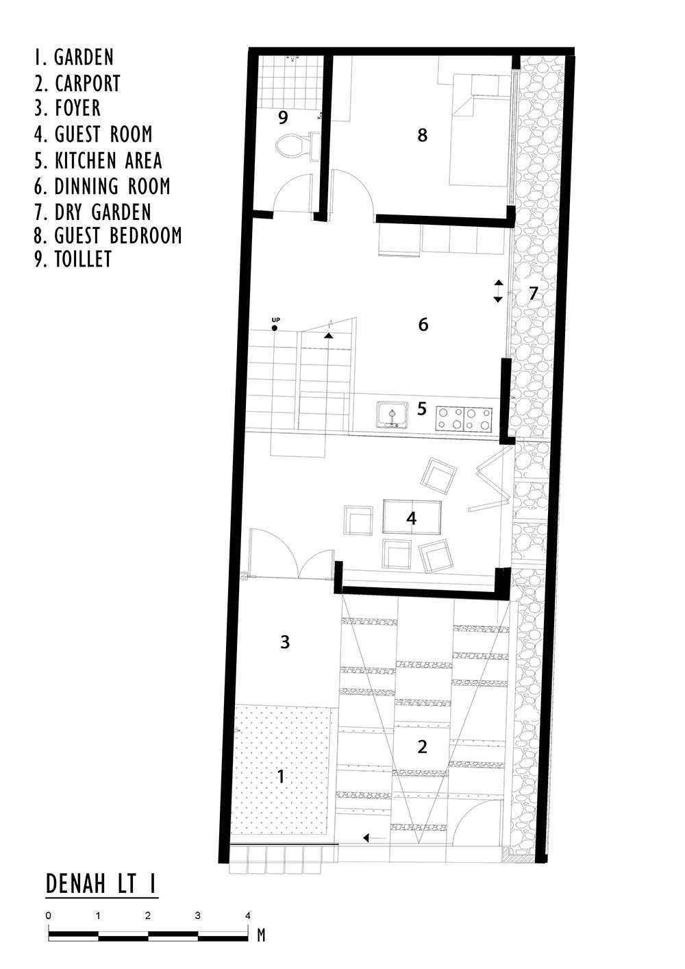 Delution Splow House Jl. Tebet Bar., Tebet Bar., Tebet, Kota Jakarta Selatan, Daerah Khusus Ibukota Jakarta 12810, Indonesia Jakarta, Indonesia 1St Floor Plan Modern 12387