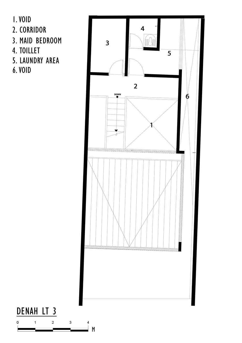 Delution Splow House Jl. Tebet Bar., Tebet Bar., Tebet, Kota Jakarta Selatan, Daerah Khusus Ibukota Jakarta 12810, Indonesia Jakarta, Indonesia 3Rd Floor Plan Modern 12389