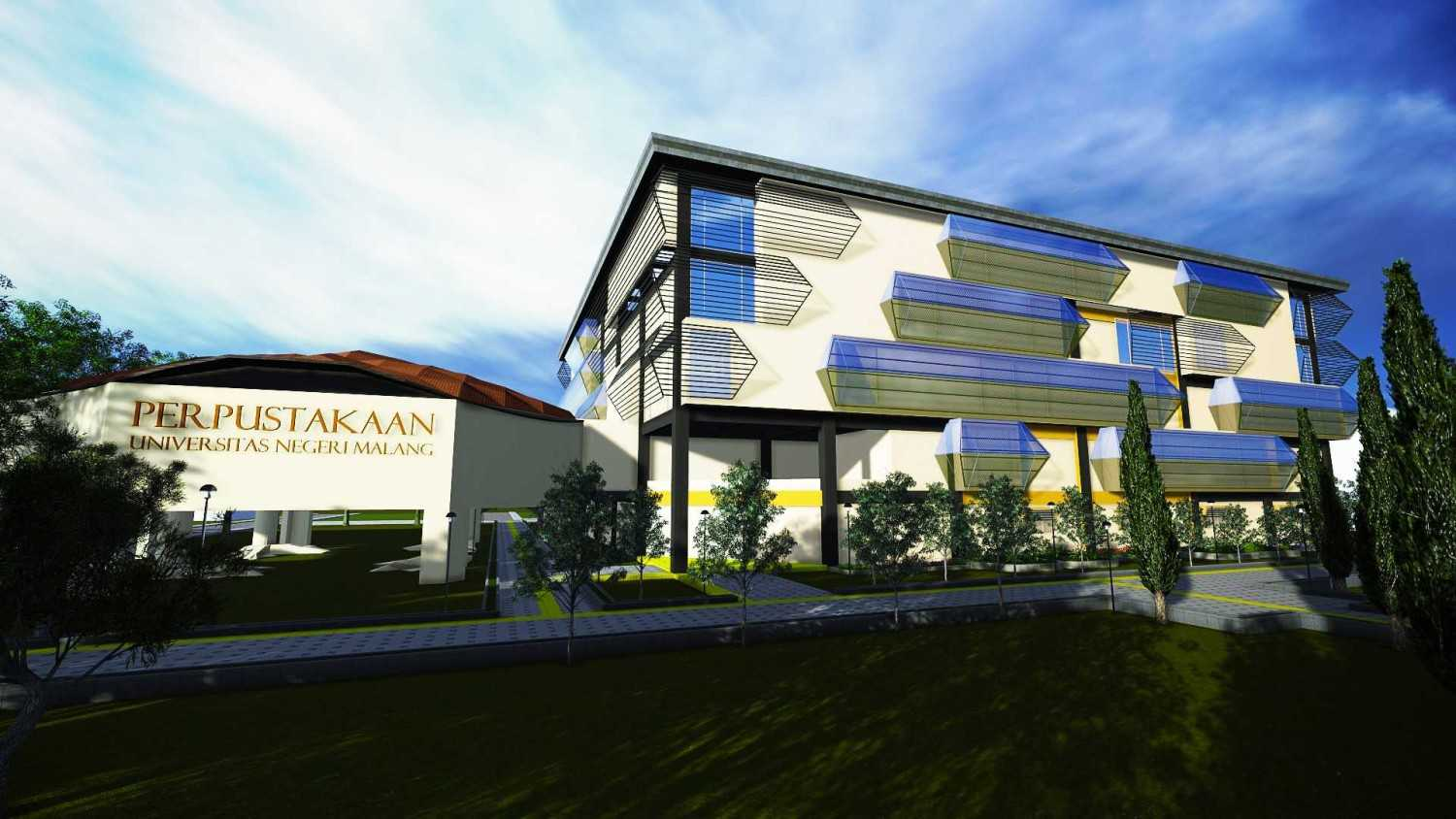Parades Studio Library Building Malang-Indonesia Malang-Indonesia Front View Kontemporer 12357