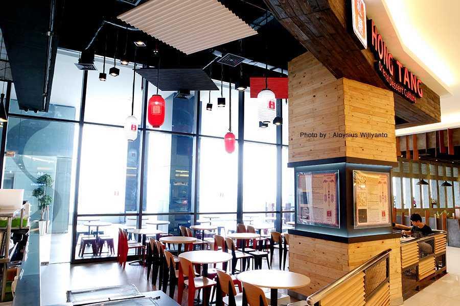 Foto inspirasi ide desain restoran industrial Hong-tang-baywalk-interior-view-2-a oleh EVONIL Architecture di Arsitag