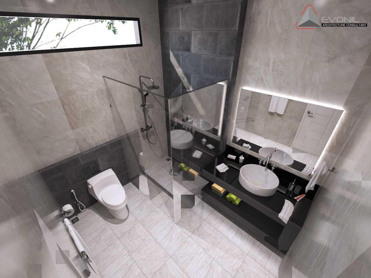 Foto inspirasi ide desain kamar mandi asian Wc-bedroom-1-residence-pluit-timur oleh Evonil Architecture di Arsitag