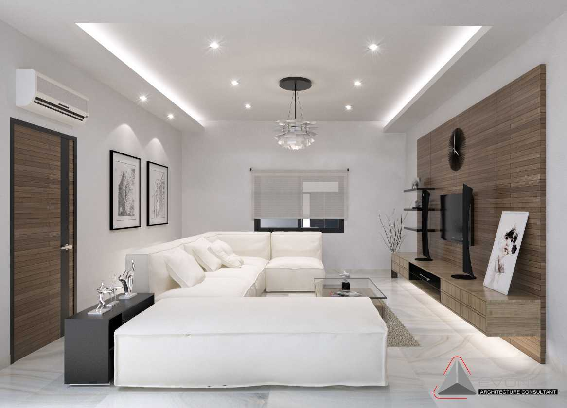 Foto inspirasi ide desain ruang keluarga asian Ruang-keluarga-residence-pluit-timur oleh Evonil Architecture di Arsitag