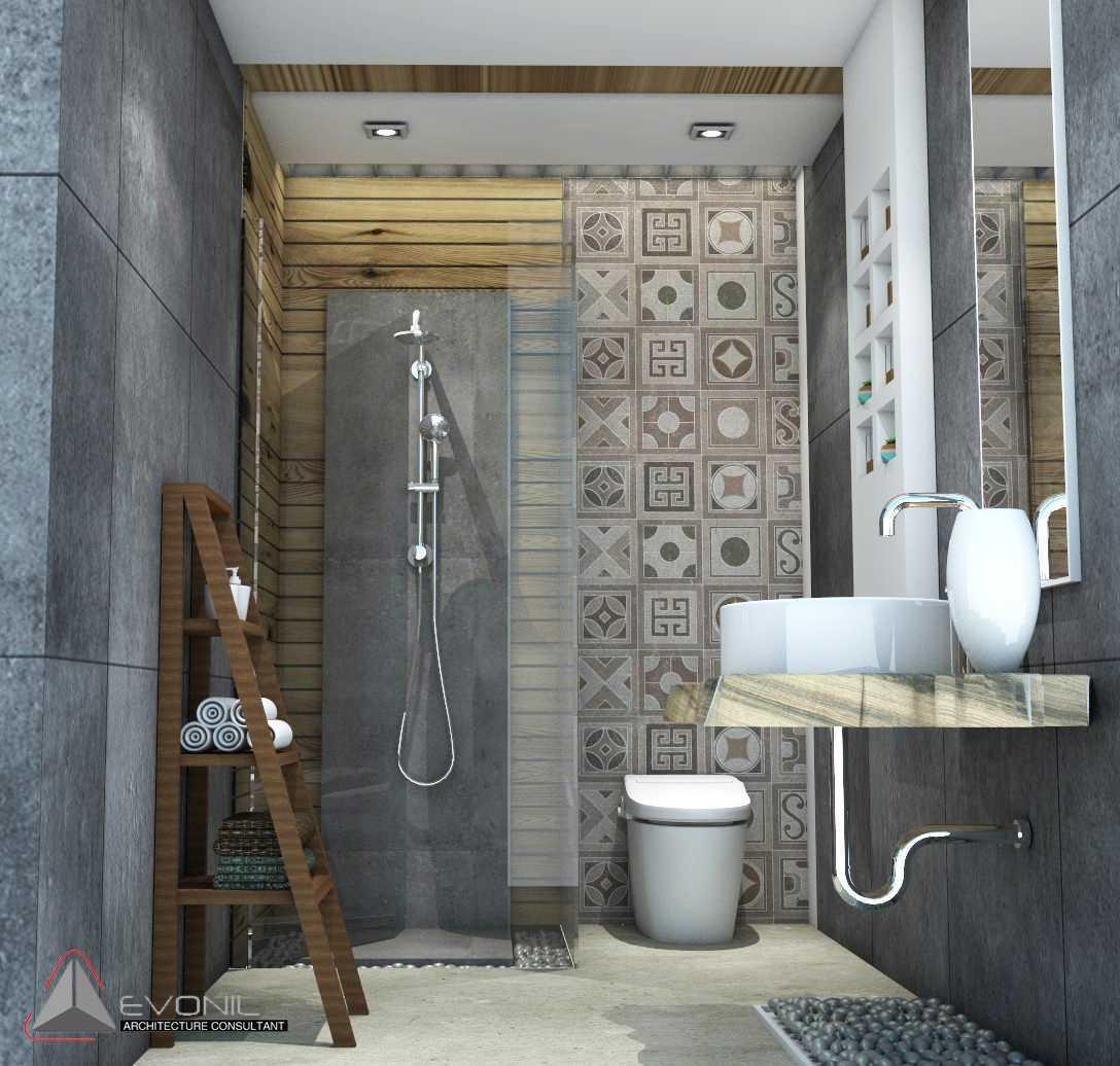 Evonil Architecture Residence Jatiwaringin Jatiwaringin, Jakarta Jatiwaringin, Jakarta Toilet-Ruang-Kerja-View1-Rev Tradisional 13062