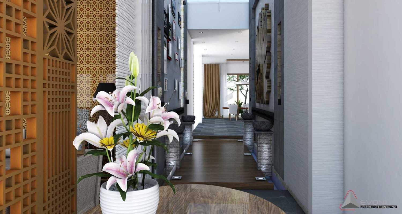 Foto inspirasi ide desain koridor dan lorong tradisional Koridor-view-1-residence-jatiwaringin oleh Evonil Architecture di Arsitag