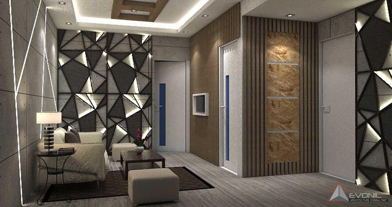 Foto inspirasi ide desain ruang keluarga modern Ruang-tamu-ruang-gembala-gbis-balikpapan- oleh Evonil Architecture di Arsitag
